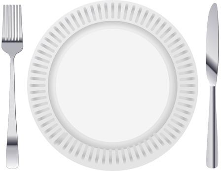 Dinner plate Illustration