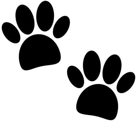 tigre cachorro: pata de impresión negro