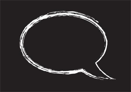 eps picture: Chalkboard speech bubble