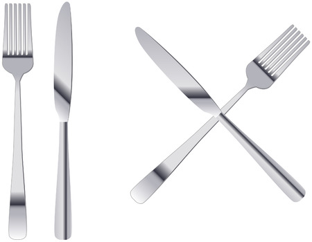 free stock photos: 3d fork  and knife