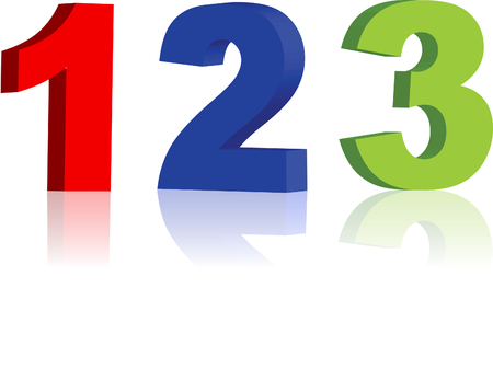 numbers: multicolored numbers Illustration