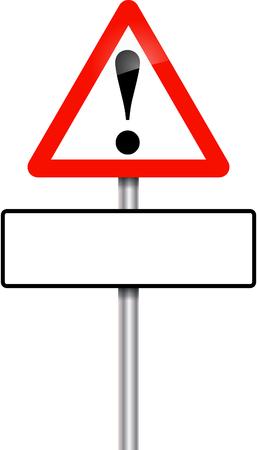hazardous imperil: Warning danger sign