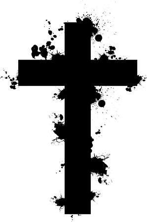 splattered: splattered cross