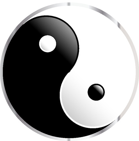 yinyang: Yin Yang symbol Illustration
