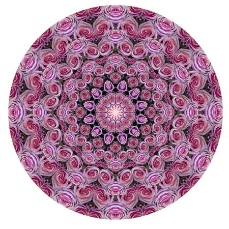 Rose mandala kaleidoscope