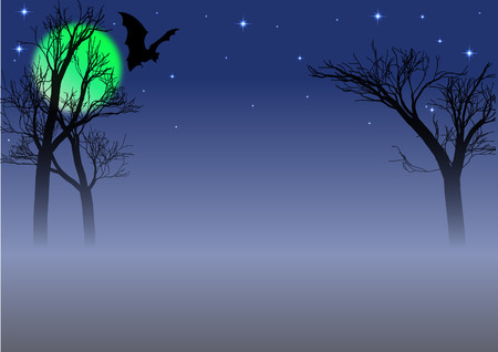 ghostly: Halloween background