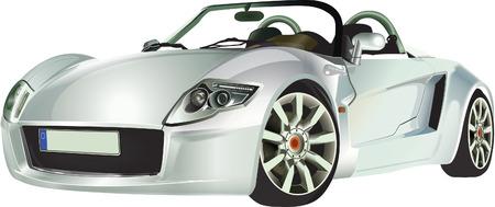 racecar: Silver sports car