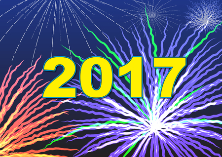 2017 fireworks Illustration