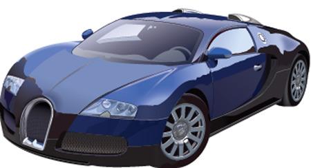 sports car Illusztráció