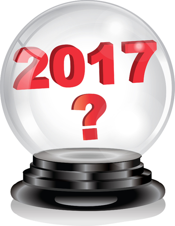 best wishes: 2017 crystal ball Illustration