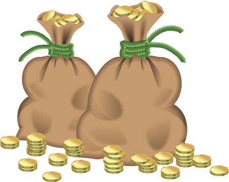 money bags: Money bags Illustration