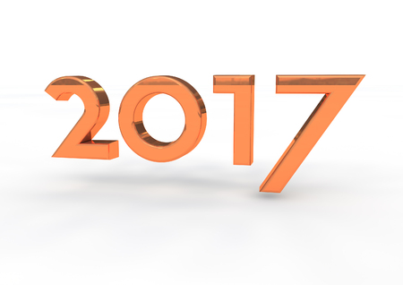 turn of the year: 2017 Stock Photo