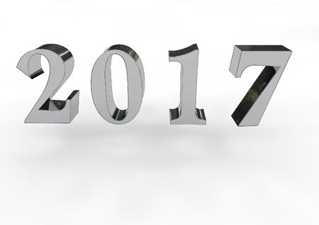 newyear: 2017 3D Stock Photo