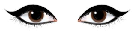 perfect skin: girls eyes