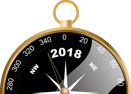 Compás 2018 Vectores