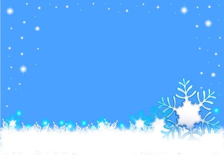snowflake scean 일러스트