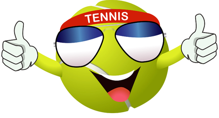 real tennis: Tennis ball Illustration