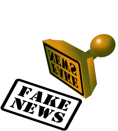 Fake News Rubber stamp icon.