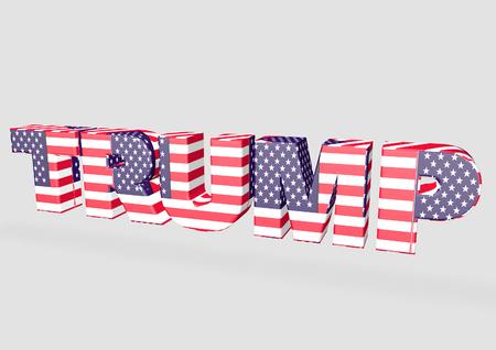 presidential: 3D Trump Lettering