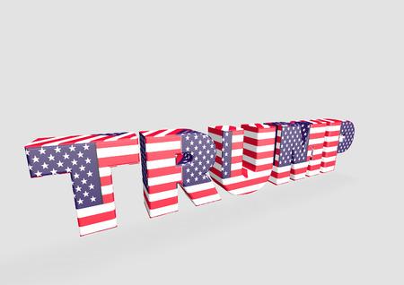 3D Trump Lettering