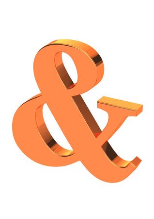 Gold 3D Ampersand
