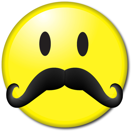 chaplin: mustache emoticon