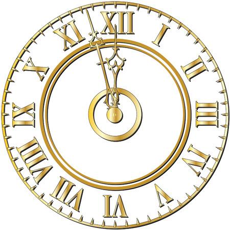numeros romanos: Viejo, reloj, cara
