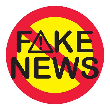 fraudulent: FAKE NEWS WARNING SIGN
