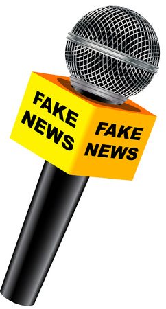 Fake news microphone Illustration