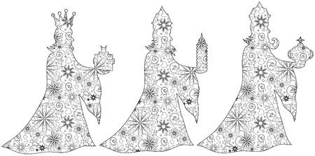 caspar: 3 Kings zentangle Illustration