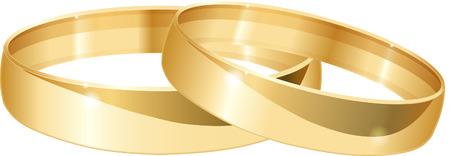 Wedding rings. Illustration