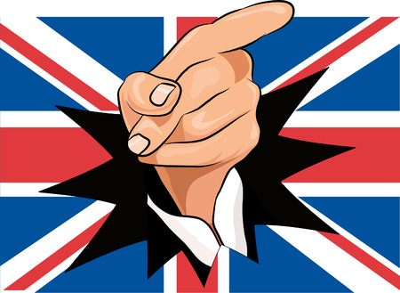 u  k: Union jack with pointing hand