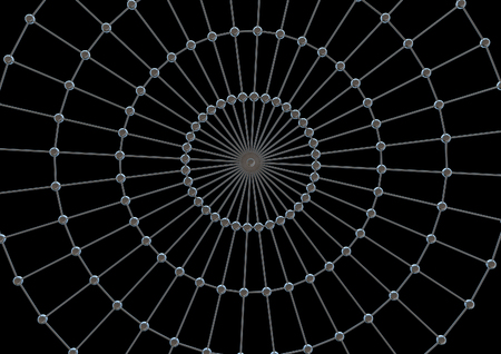 Metal spider web Stock Photo