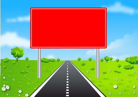 complicated journey: Creative amazing illustration of a Road sign blank