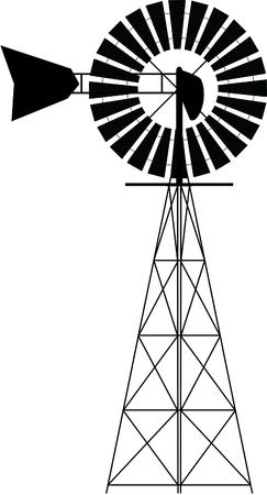 Creative amazing illustration of a windmill