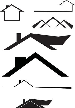 roofing logo  イラスト・ベクター素材