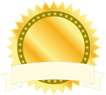 Gold seal with banner Illustration