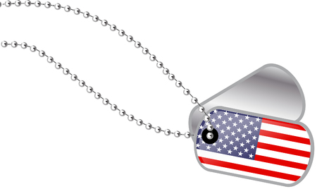 USA dog tags