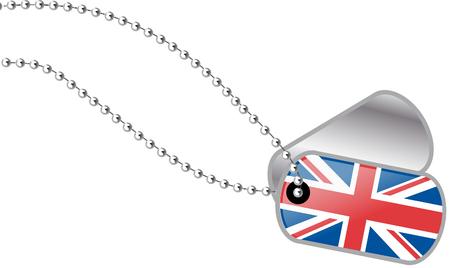 bandera de gran bretaña: placas de identificación del Reino Unido Vectores