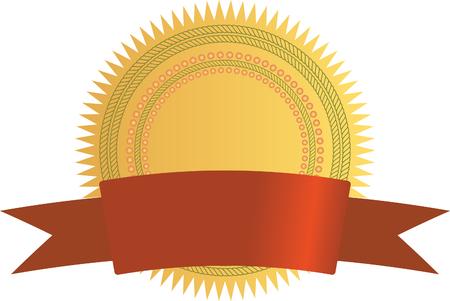 valued: Gold seal with banner Illustration