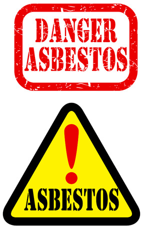 hazardous material: danger asbestos sign