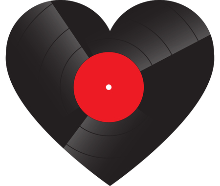 Heart shaped record