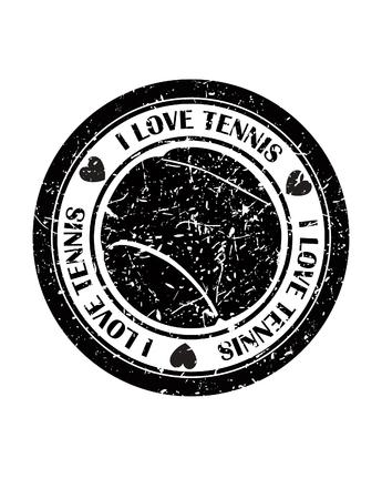 tennisball: I Love Tennis icon. Illustration