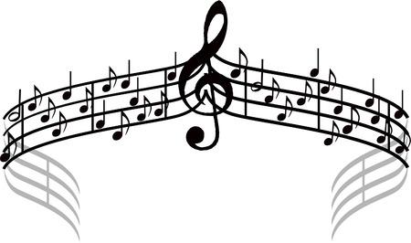 Notes de musique. Banque d'images - 76154938