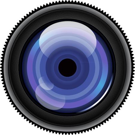 Camera lens illustration Illustration