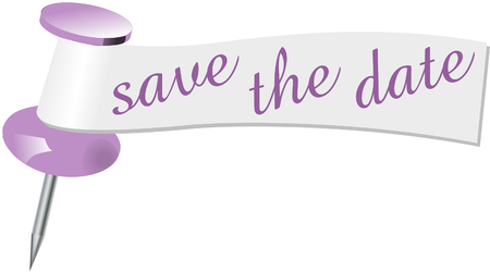 pinning: Save the date pin