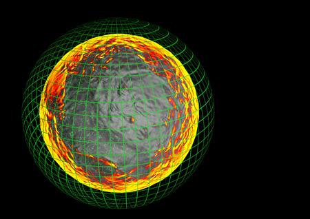 nibiru in space: Glowing globe