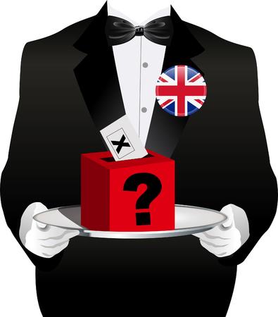 UK Vote ballot box Illustration