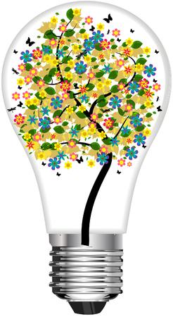 Bombilla de luz de árbol Foto de archivo - 77252112
