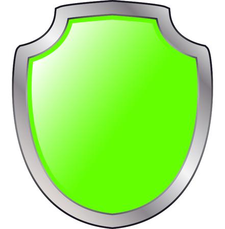 Blank shield Reklamní fotografie - 77252186